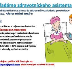Inzerát zdravotnícky asistent