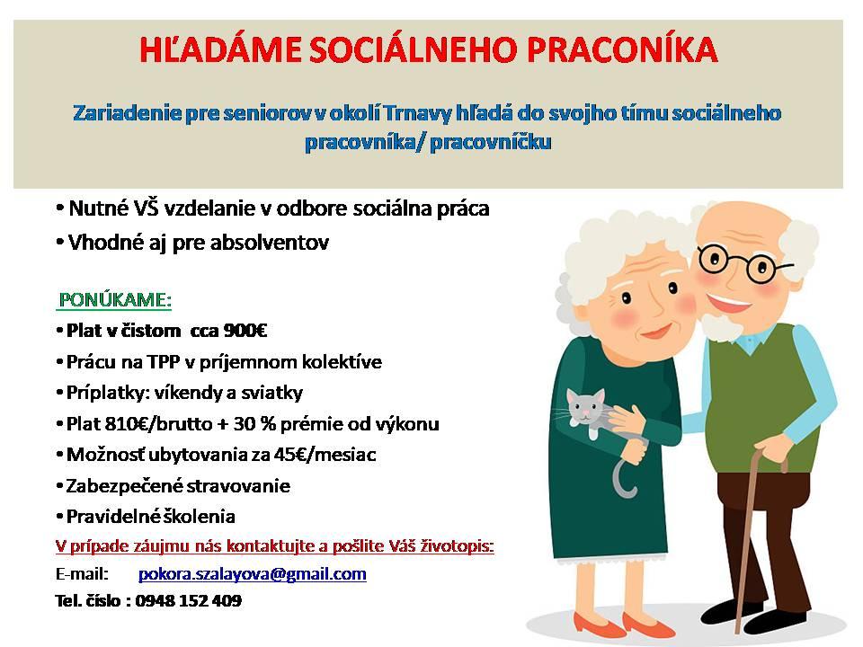 Inzerát sociálny pracovnik
