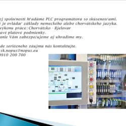 PLC programátor nový inzerát